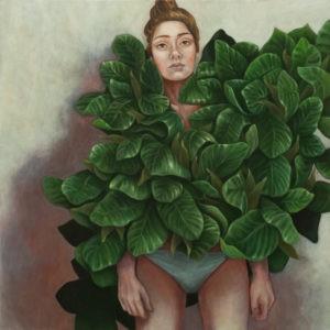 Bez tytułu - Agnieszka Potrzebnicka (2019), obraz olejny na płótnie