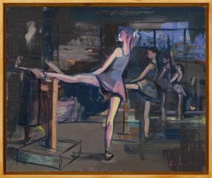 Lekcja baletu - Maciej Kempiński (2019), obraz akrylowy na płótnie
