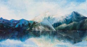 Góry - Khrystyna Hladka (2017), obraz akrylowy na płótnie