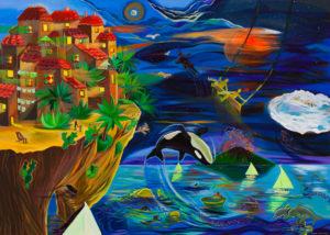 In a dream Tropea - Michalina Czurakowska (2020), obraz akrylowy na płótnie