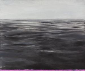 Kompozycja horyzontalna - Mateusz Budzyński (2014), obraz olejny na płótnie