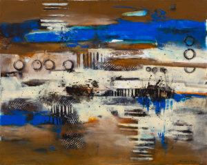 Abstrakcja i mrożone cappuccino - Nina Zielińska-Krudysz (2020), obraz akrylowy na płótnie