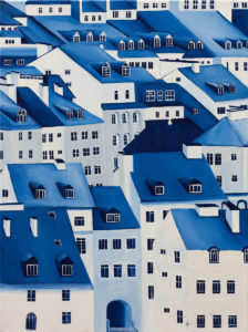 Old Town VIII - Beata Paziewska (2020), obraz akrylowy na płótnie
