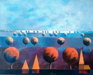 Osada 20 - Jakub Szymański (2020), obraz akrylowy na płótnie