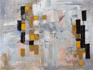 Kilka sekund przed chwilą - Filip Łoziński (2020), olej, akryl, pisak akrylowy, płótno
