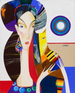 Florencja - Neli Lukashyk (2018), obraz akrylowy na płótnie