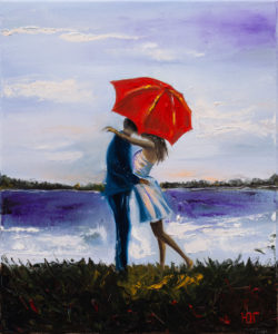 Tonąc w miłości - Yulia Gurzhiyants (2020), obraz olejny na płótnie