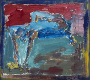 Dziewczyna w żółtym - Tadeusz Świniarski (2015), obraz olejny na płycie