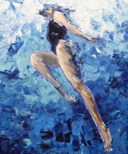 Beztroska - Agnieszka Słońska-Więcek (2020), obraz akrylowy na płótnie