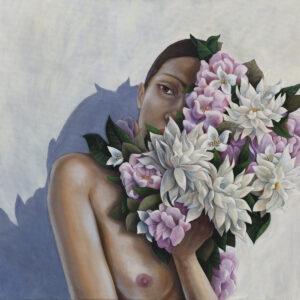 Na skraju słońca - Agnieszka Potrzebnicka (2020), obraz olejny na płótnie