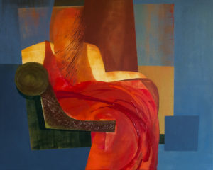 Bez tytułu z cyklu Zapis śladu - Agnieszka Olech (2020), obraz akrylowy na płótnie
