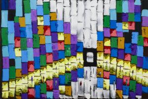 Kompozycja miejska - Filip Łoziński (2020), olej, akryl, płótnie
