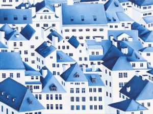 Old Town IX - Beata Paziewska (2020), obraz akrylowy na płótnie