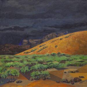 Pejzaż wulkaniczny - Beata Pałach (2020), obraz akrylowy na płótnie