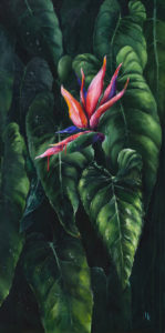 Kwiat egzotyczny - Khrystyna Hladka (2018), obraz akrylowy na płótnie