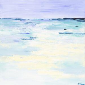 Summer seascape - Yuliya Stratovich (2020), obraz akrylowy na płótnie