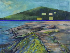 Pejzaż nadbrzeżny - Beata Pałach (2020), obraz akrylowy na płótnie
