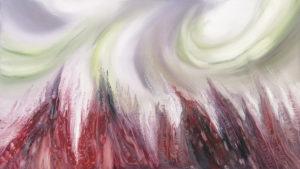 Zawirowania nad krainą snów - Mariola Świgulska (2020), obraz olejny na płótnie