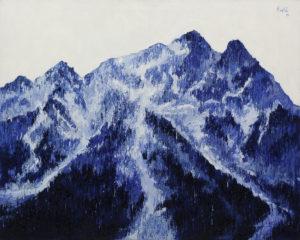Góra 2 - Olena Horhol (2019), obraz olejny na płótnie