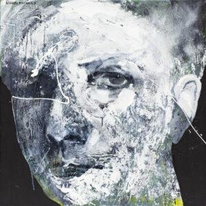 Z cyklu maska czy twarz - Aleksandra Modzelewska (2020), obraz olejno-akrylowy na płótnie