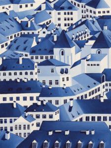Old Town X - Beata Paziewska (2020), obraz akrylowy na płótnie