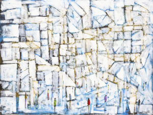 Droga bez wyjścia - Filip Łoziński (2020), obraz olejno-akrylowy na płótnie