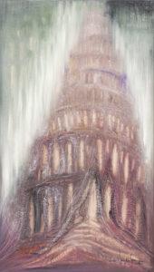 Wieża Babel - Mariola Świgulska (2019), obraz olejny na płótnie