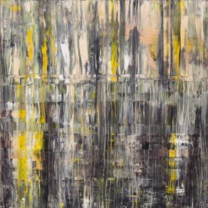 Ulice zapłakane deszczem - Izabela Drzewiecka (2020), obraz akrylowy na płótnie