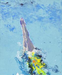 Skok do wody 2 - Agnieszka Słońska-Więcek (2020), obraz akrylowy na płótnie