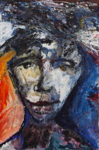 Retrato - Walfrido Valera Munoz (2013), obraz akrylowy na płótnie
