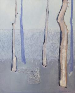W niebieskim lesie - Katarzyna Środowska (2020), obraz olejny na płótnie