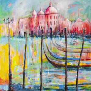 Duch Wenecji - Mirosław Nowiński (2020), obraz akrylowy na płótnie