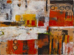 Abstrakcja było sobie lato - Nina Zielińska-Krudysz (2020), obraz olejny na płótnie