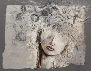 W raju i tak jest nudno - Żaneta Chłostowska-Szwaczka (2020), obraz akrylowy na płótnie
