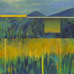 Pejzaż trawiasty - Beata Pałach (2020), obraz olejny na płótnie