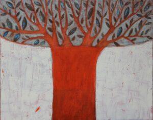 Drzewo oliwne - Nika Jaworowska (2020), obraz akrylowy na płótnie