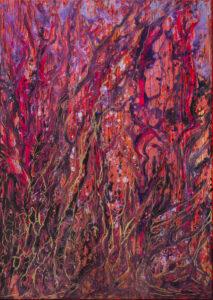 Namiętny las ekstazy - Izabela Drzewiecka (2020), obraz akrylowy na płótnie