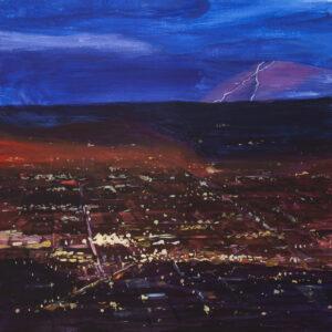 City Lights - Paweł Świątek (2020), obraz akrylowy na płótnie