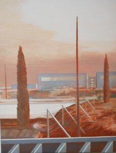 Zbiornik - Andrzej Tobis (2004), obraz olejny na płótnie