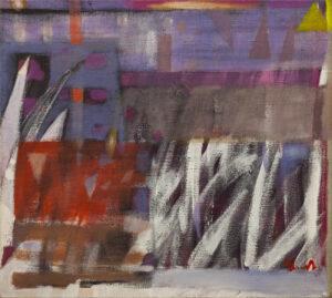 Rytmy santockie II - Wojciech Plust, obraz olejny na płótnie