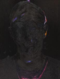Z cyklu Maska czy twarz - Aleksandra Modzelewska (2018), obraz olejno-akrylowy na płótnie