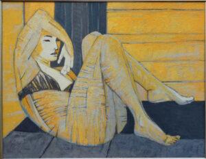 Próba XXXVI - Anna Drejas (2010), obraz olejny na płótnie