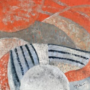 Szary świt - Paulina Leszczyńska (2020), obraz olejny na płótnie