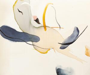 Nie ruszaj się - Natalia Fundowicz (2020), akwarela, ekolina, akryl, płótno