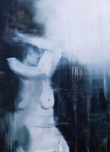 Powłoki skórne blade III - Kamila Nyckowska (2020), obraz olejny na płótnie