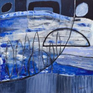 Akwen w świetle księżyca - Paulina Leszczyńska (2019), obraz olejny na płótnie