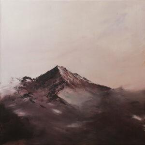 Foggy mountains - Yuliya Stratovich (2020), obraz akrylowy na płótnie