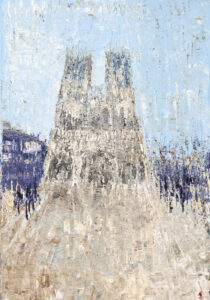 Gotycka katedra - Agnieszka Słońska-Więcek (2020), obraz akrylowy na płótnie