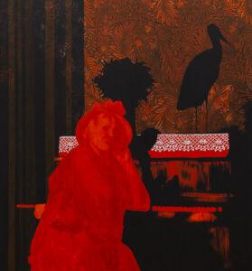 Granica - Justyna Dorzak (2019), obraz akrylowy na płótnie