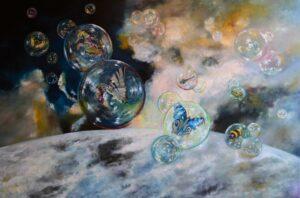 Z cyklu Ex Aqua – E2 - Adam Piotr Rutkowski (2017), obraz olejny na płótnie